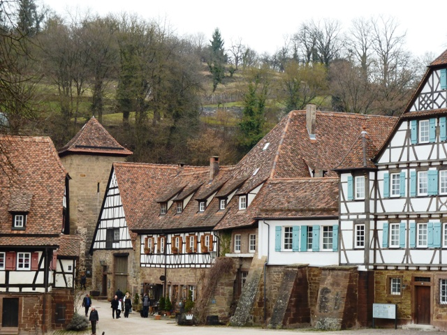 Town and hills in Maulbronn, Germany