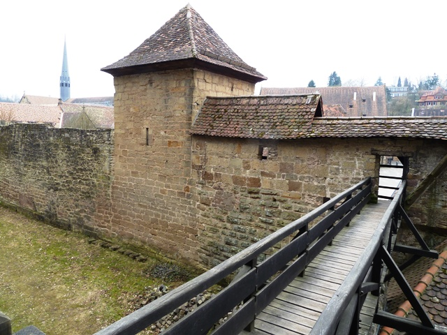 City wall and bridge in Maulbronn, Germany