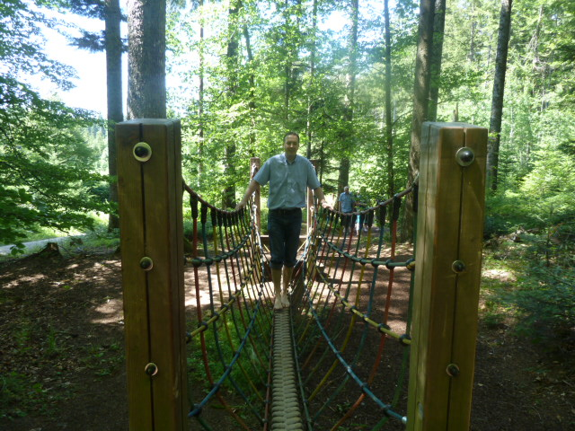 Barefoot park balancing challenges, Germany